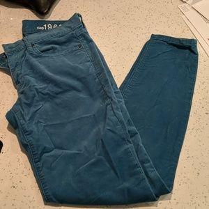 Gap cord leggings jeans (sz 27/4r)